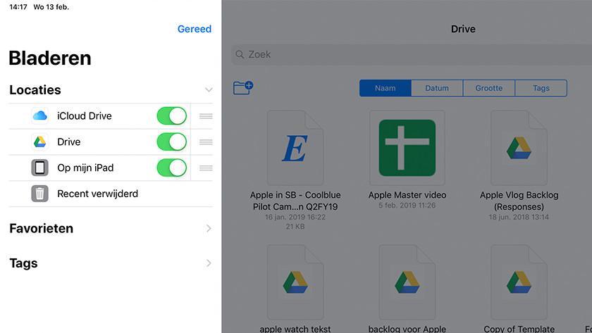 Apps toevoegen in de Bestanden-app