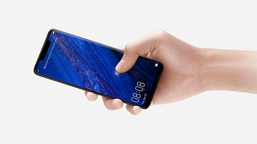 Huawei Mate 20 Pro vingerafdrukscanner in het scherm