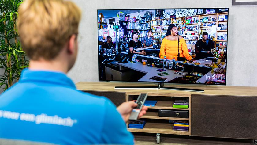 Geluid van de Hisense H55O8B OLED tv