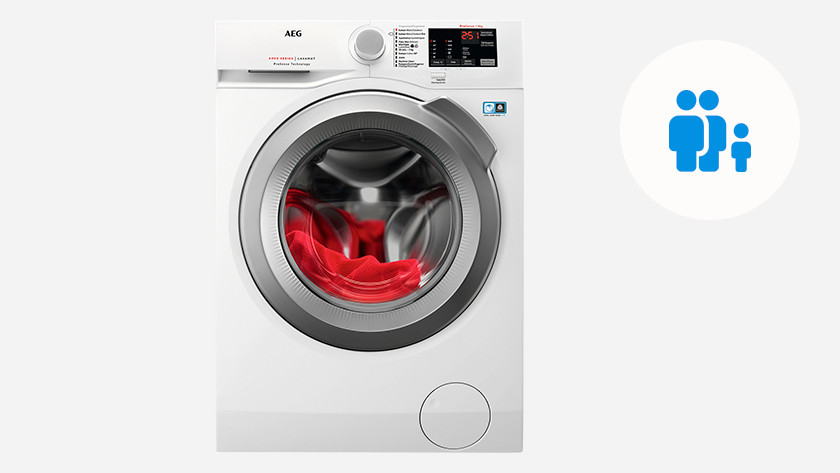 Washing machine for 2 people and 1 child