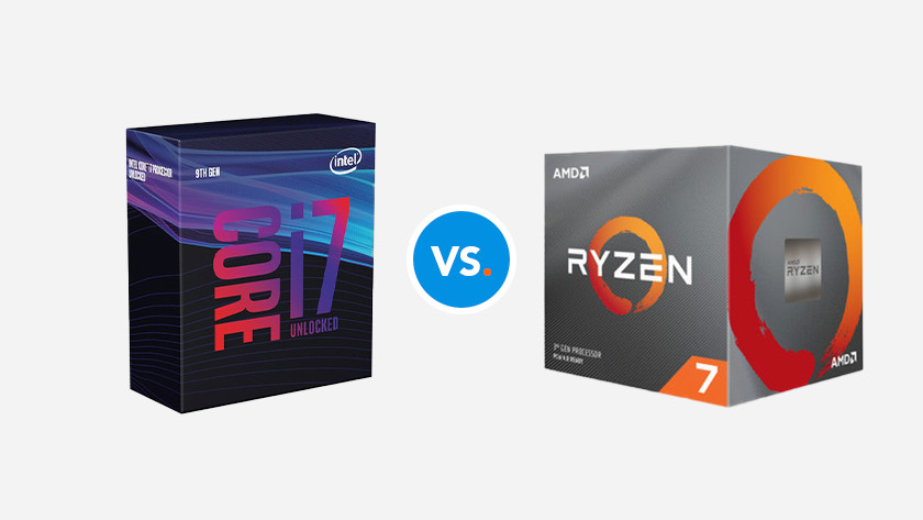 Intel Core i7 CPU vs AMD Ryzen 7 processor