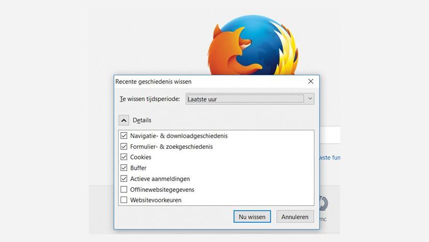 Delete Mozilla Firefox browser history.