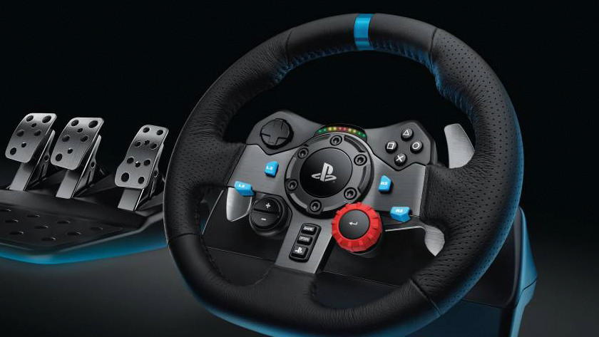 Racing is easier with a racing wheel