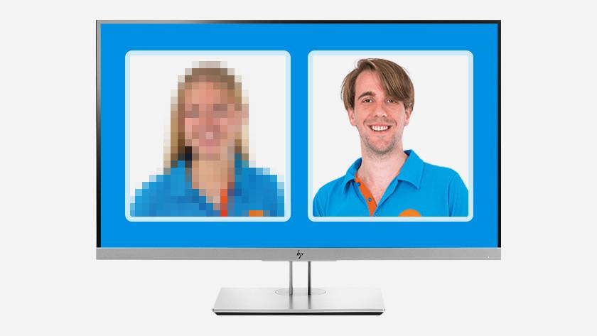 Resolutie webcam vergelijken.