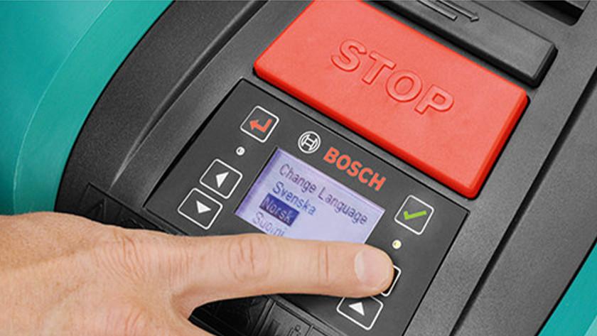 Taal Bosch Indego robotmaaier instellen