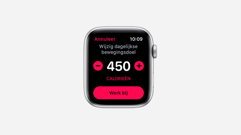 Bewegingsdoel Apple Watch