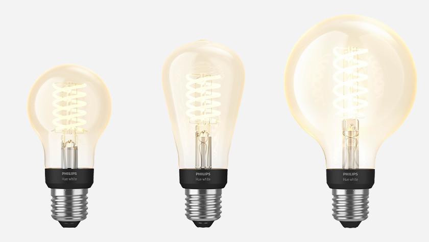Hue filamentlampen line up