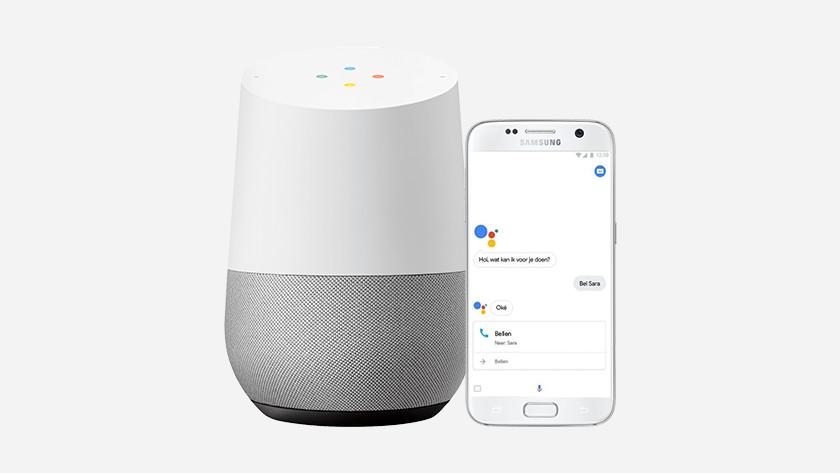 Google Assistant in gebruik