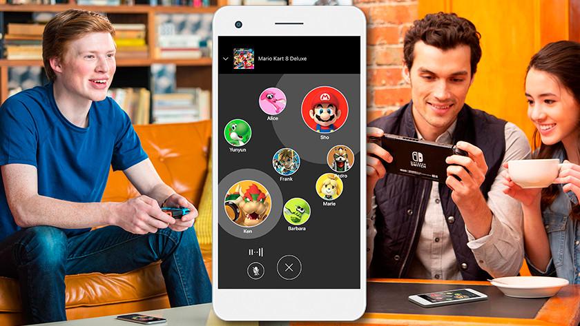 Chatten via de Nintendo App