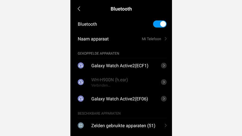 Bluetooth verbindingen