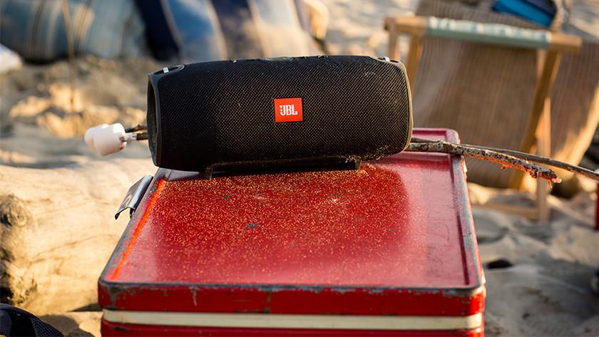 Bluetooth speaker in gebruik