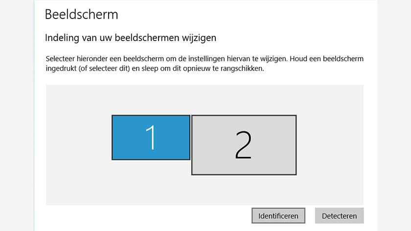 Identify screens Windows