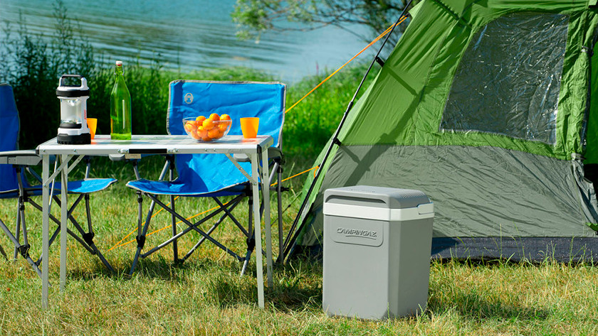 Cooler on the campsite