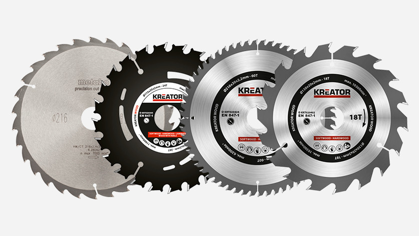 Saw blades for crosscut saws