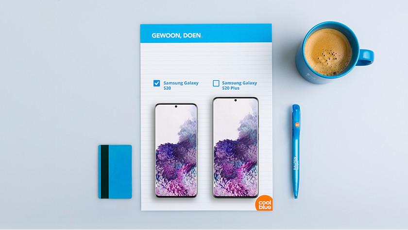 Samsung Galaxy S20 vs S20 Plus size