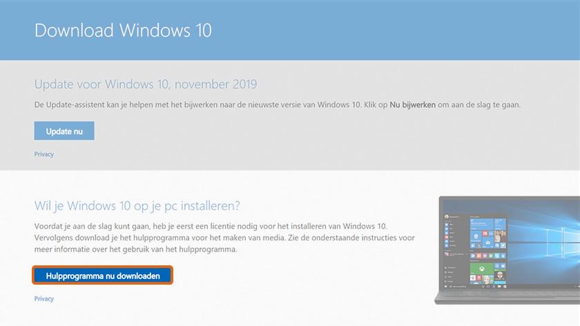 Schone installatie van Windows