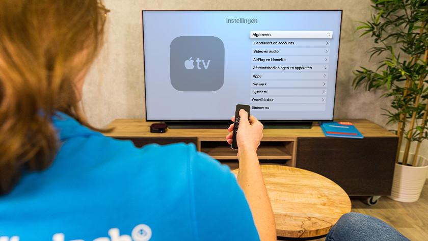 Open de 'Instellingen' op Apple TV en ga naar 'Algemeen'.