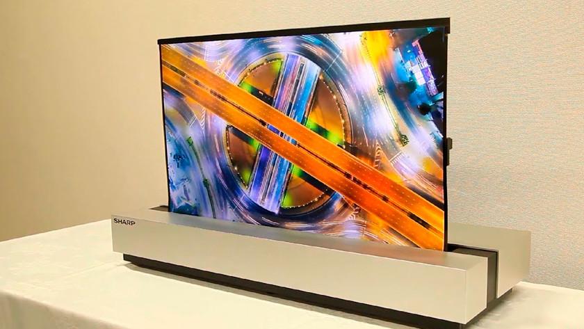 Oprolbare tv van Sharp
