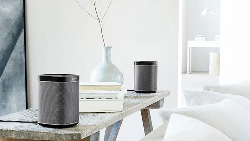 Sonos stereo speaker in living room