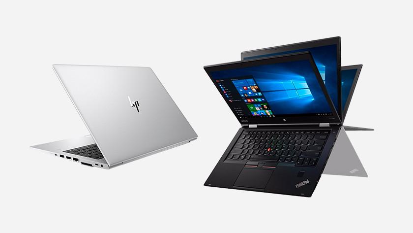 HP en Lenovo laptops.