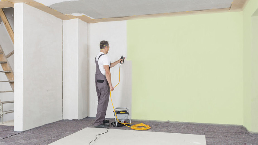 Spraying direction of the paint sprayer
