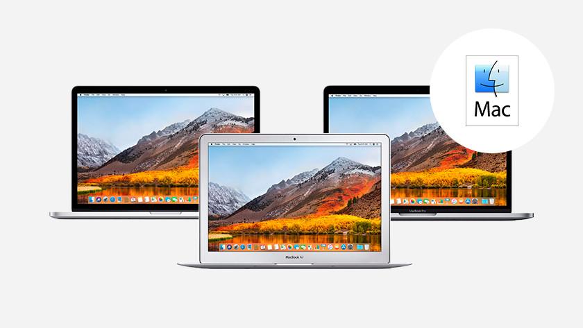 Drie MacBooks.