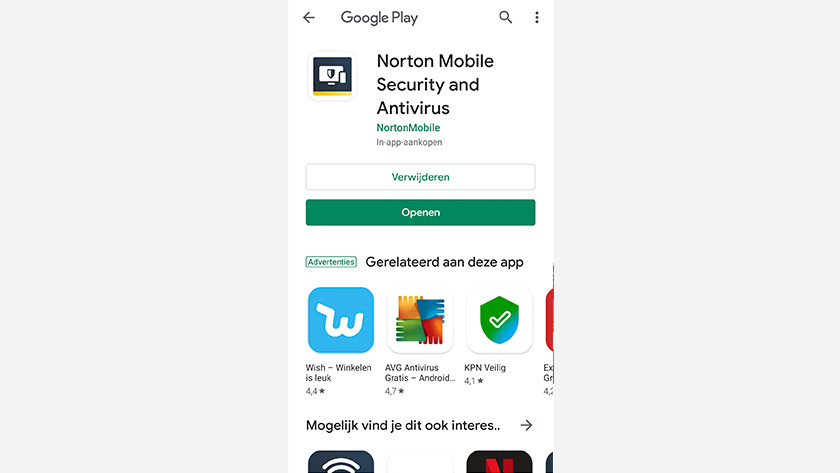 Open Norton app