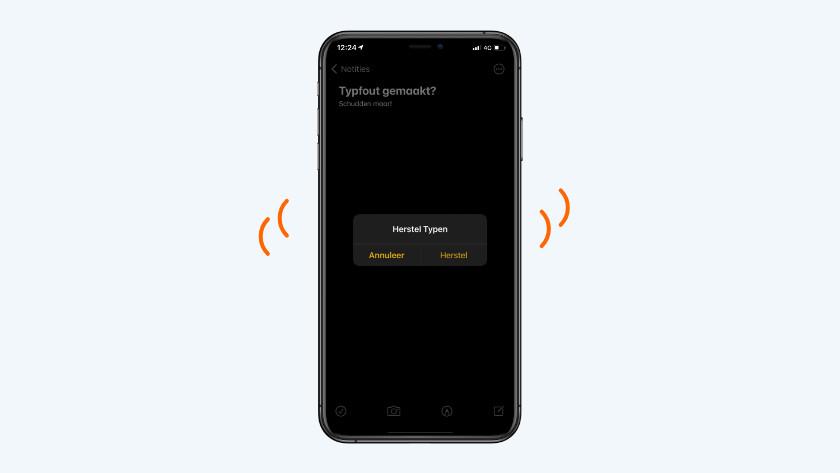 iPhone schudden bij typfout