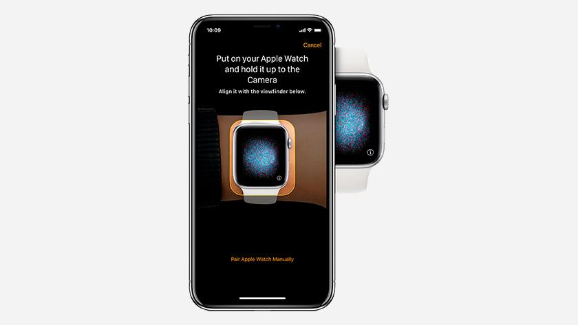 Richt camera op Apple Watch