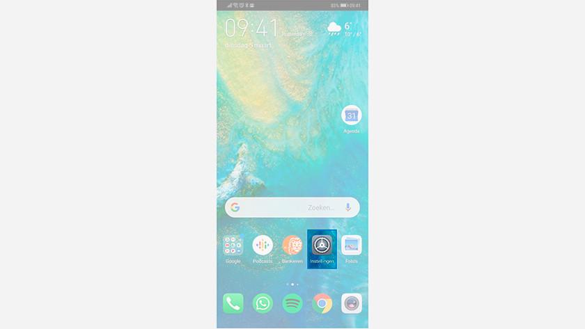 Resetting the Huawei smartphone
