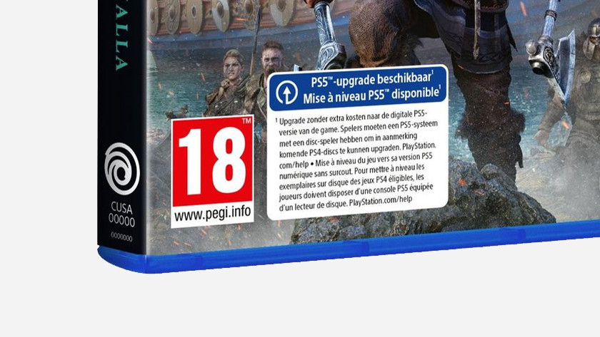 PS5 upgrade available with Assassin's Creed Valhalla.