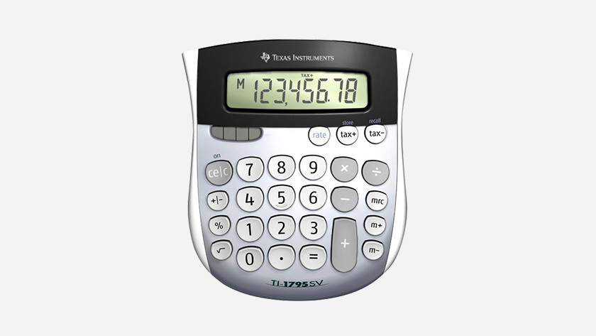 Calculator with solar cell