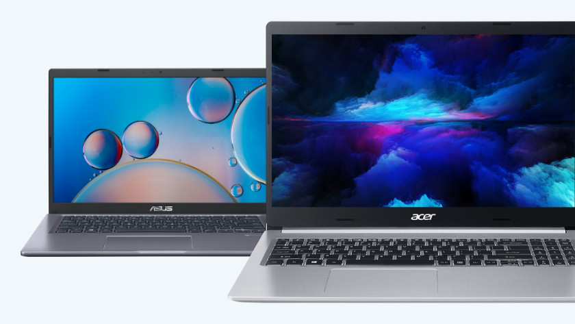 Acer en Asus laptop.