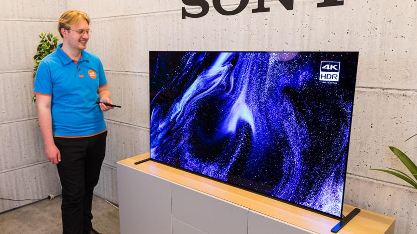 Kijkhoek en reflecties van de Sony A90J OLED tv