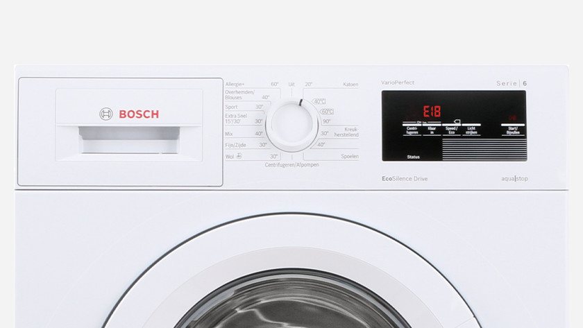The top 8 errors of Bosch and Siemens washing machines