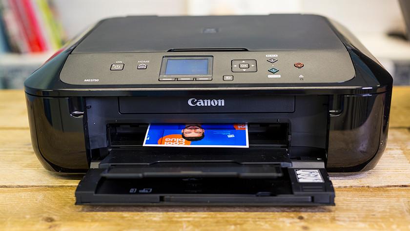 Canon fotoprinter aan het printen