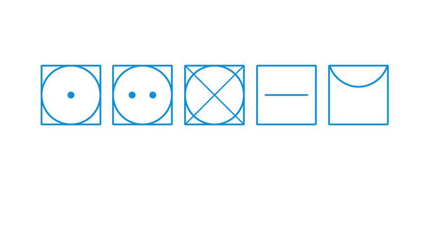 Droogsymbolen wasdroger