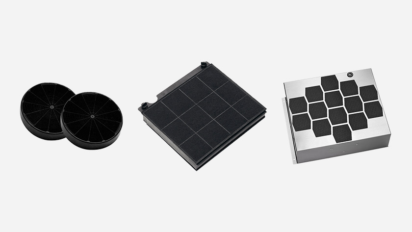 Verschillende filters voor afzuigkappen