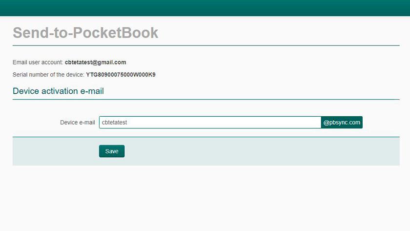 Pocketbook e-books via Send to Pocketbook
