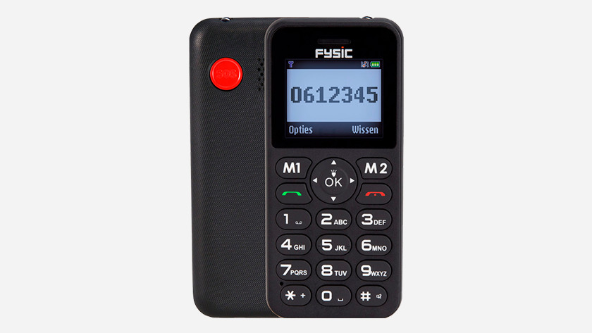 Senior mobile phone emergency button