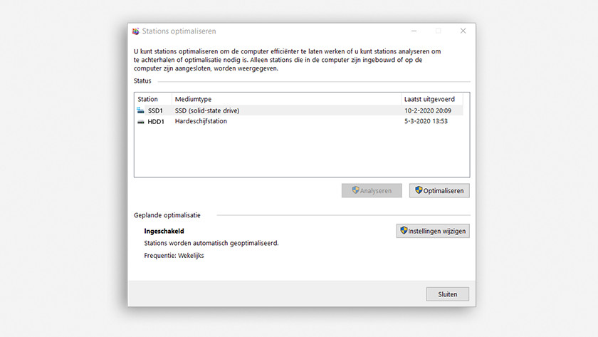 Controleer of Windows je SSD herkent