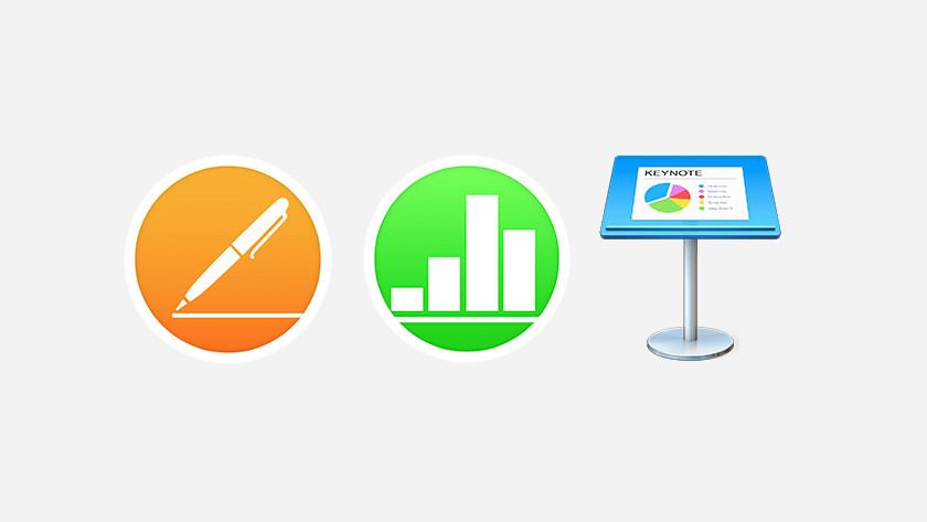 Apple MacBook pages numbers keynote