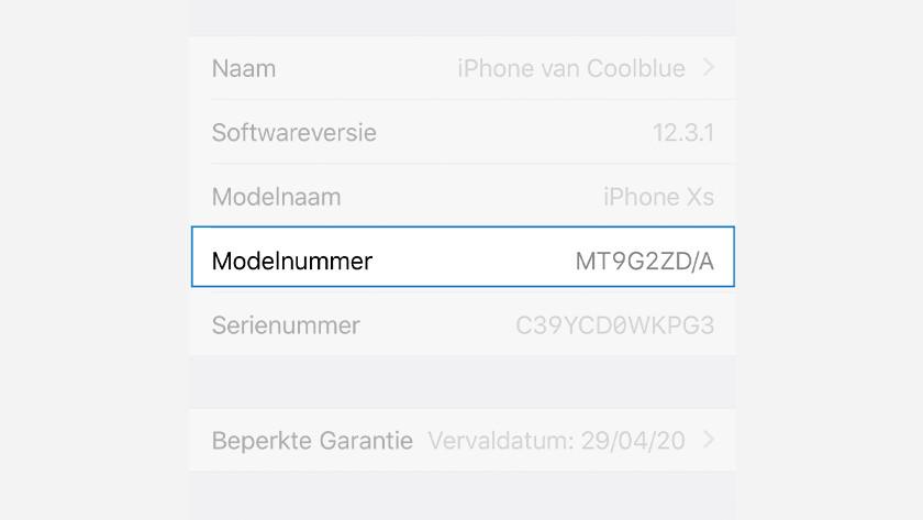 Onderdeelnummer iPhone