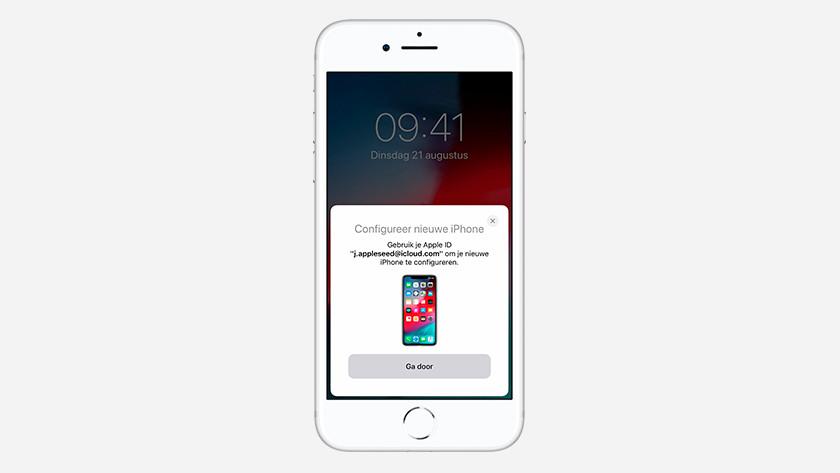 Transfer Apple iPhone data via Quick Start