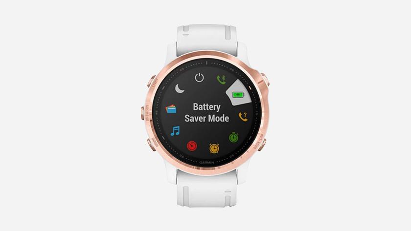 Garmin Fenix 6 batterij menu