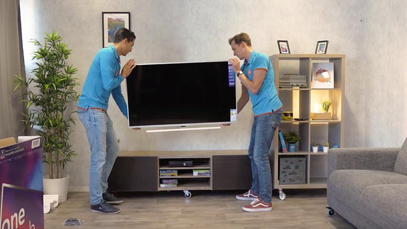 Tv uitpakken