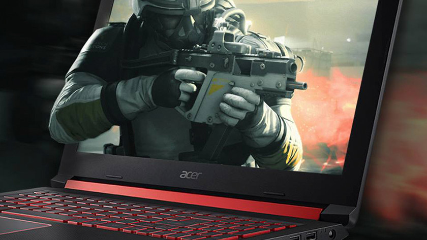 Soldier from game on Acer laptop screen.