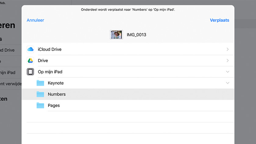Move iCloud Drive files