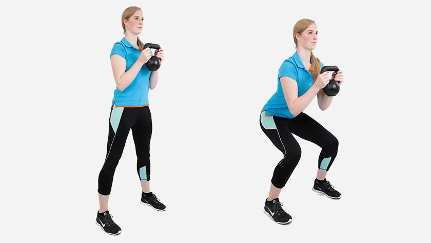 Kettlebel goblet squat explanation