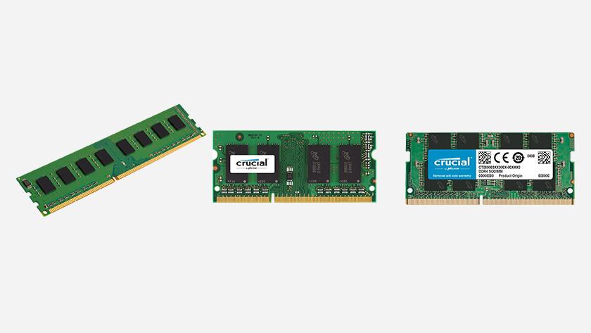 DDR3, DDR3L, or DDR4 memory